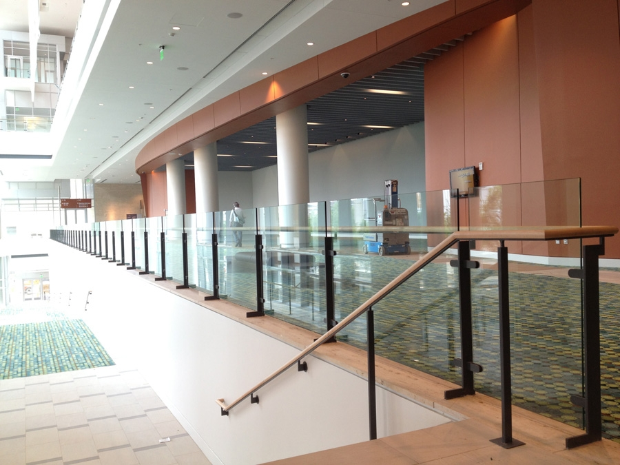 Custom Glass Stair Railings Handrails | Glass Hand Railing Design | Fancy | Street Railing | Commercial | Outdoor | Glass Etching
