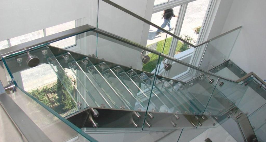 Interior Exterior Custom Glass Stair Treads   Glass Stair Treads Cost   Floating Staircase   Handrail   Floating   Steel   Iron Stair