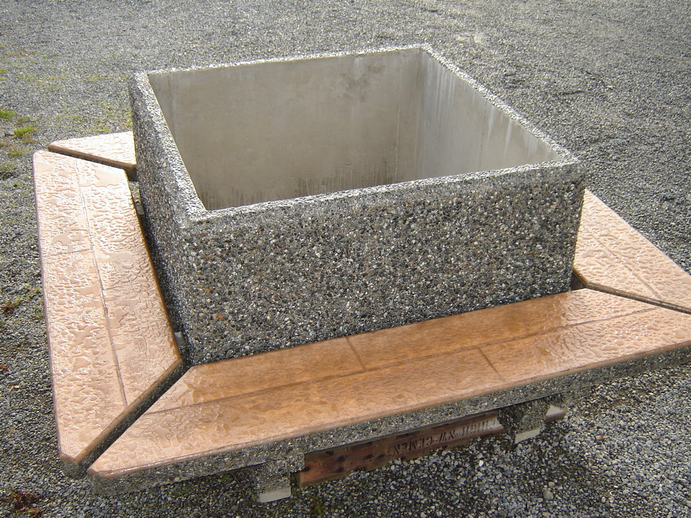 Raised Garden Box Concrete