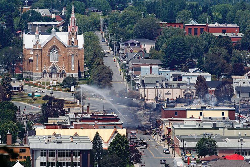 Downtown Lac-Mégantic is still under construction, full of ...