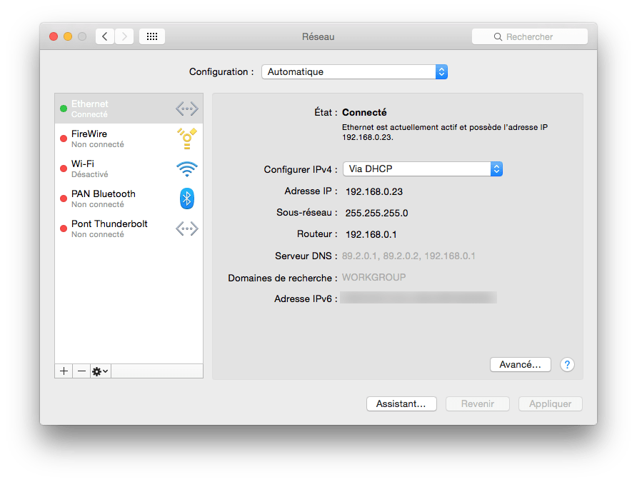 dns yosemite ethernet