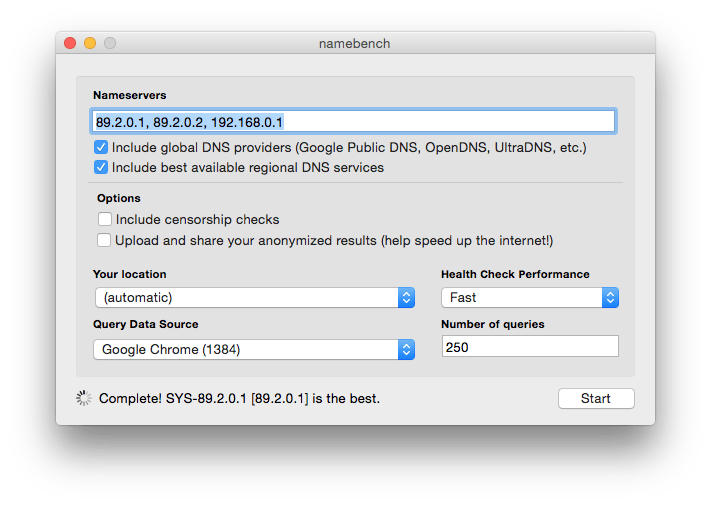 dns yosemite optimal