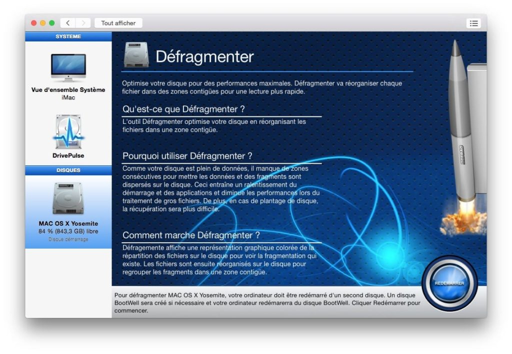 optimiser yosemite defragmenter