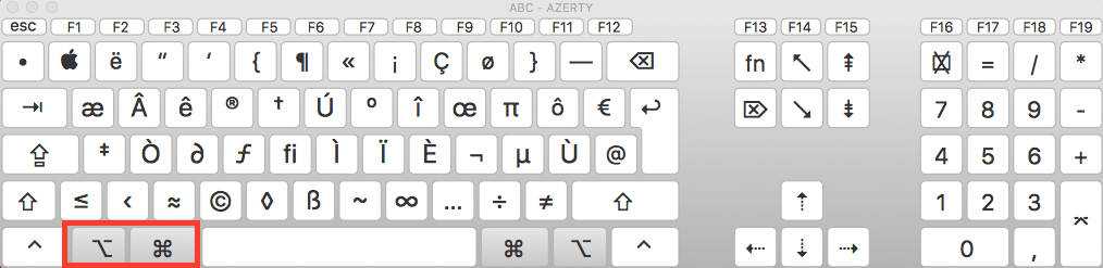 rotation ecran mac os x touches clavier