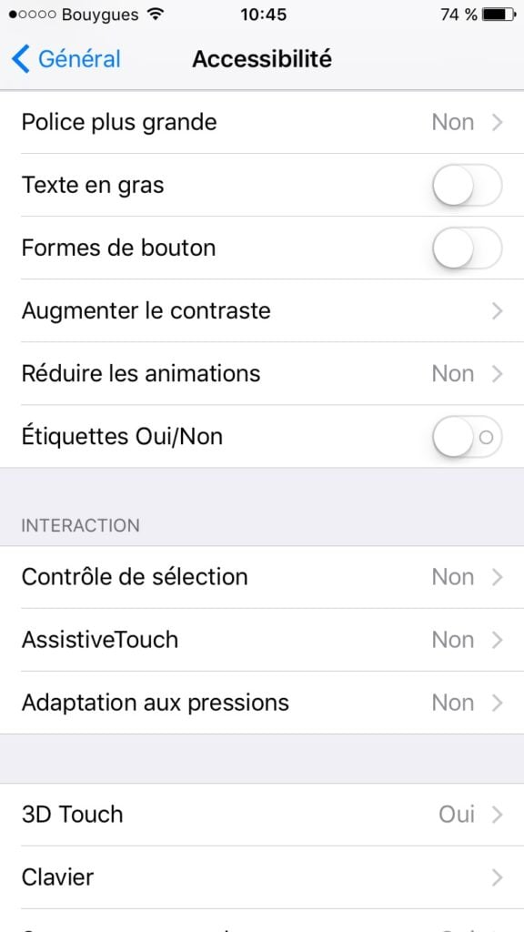 ios 10 batterie reduire animation