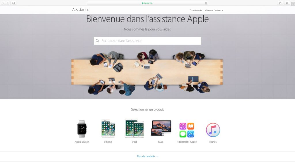 Contacter Apple assistance apple france
