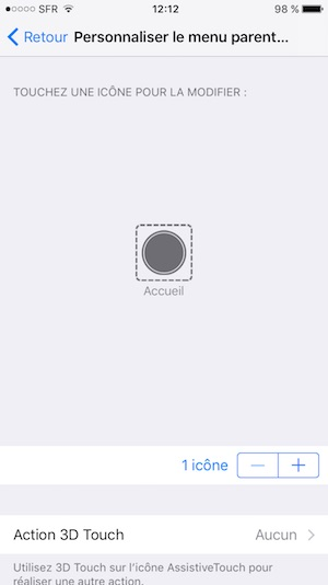 bouton home en panne sur iphone seul