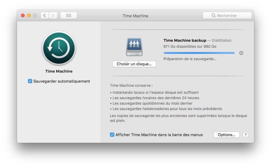 Sauvegarder son Mac avec Time Machine Backup