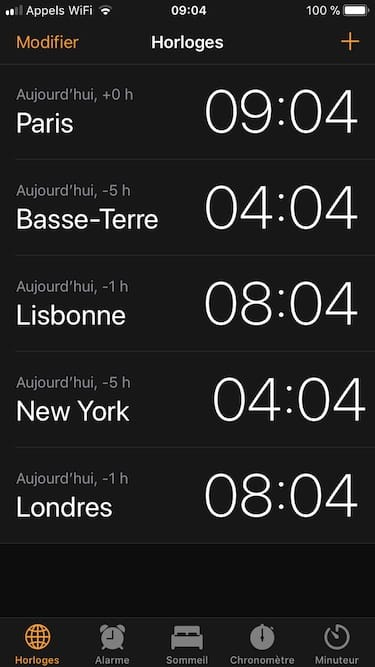 utiliser le chronometre de son iPhone Horloge et icone chronometre