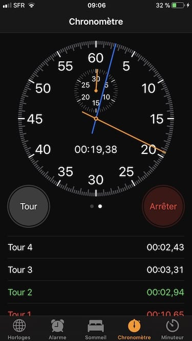 utiliser le chronometre de son iPhone mecanique