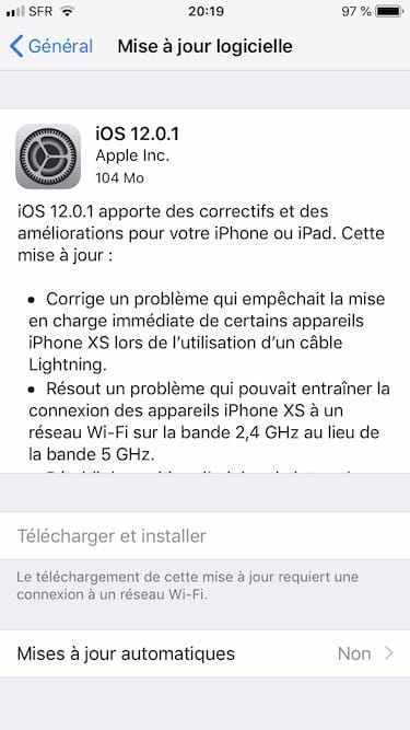 iOS 12.0.1 update iphone ipad ipod touch