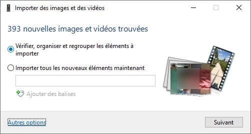 importer des images et des videos iphone vers PC Windows