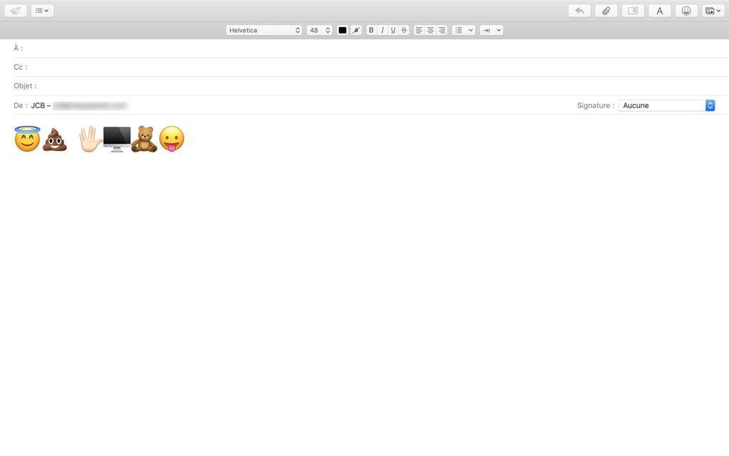 inserer emoji apple mail