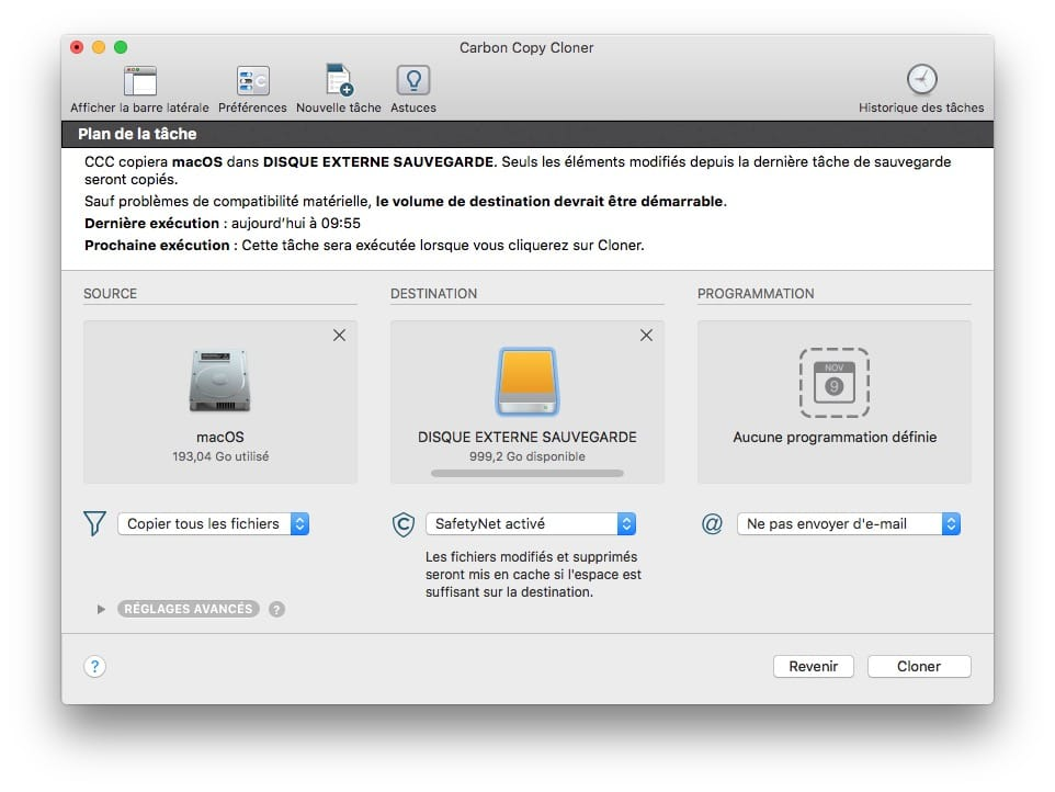 cloner son mac disque source disque destination