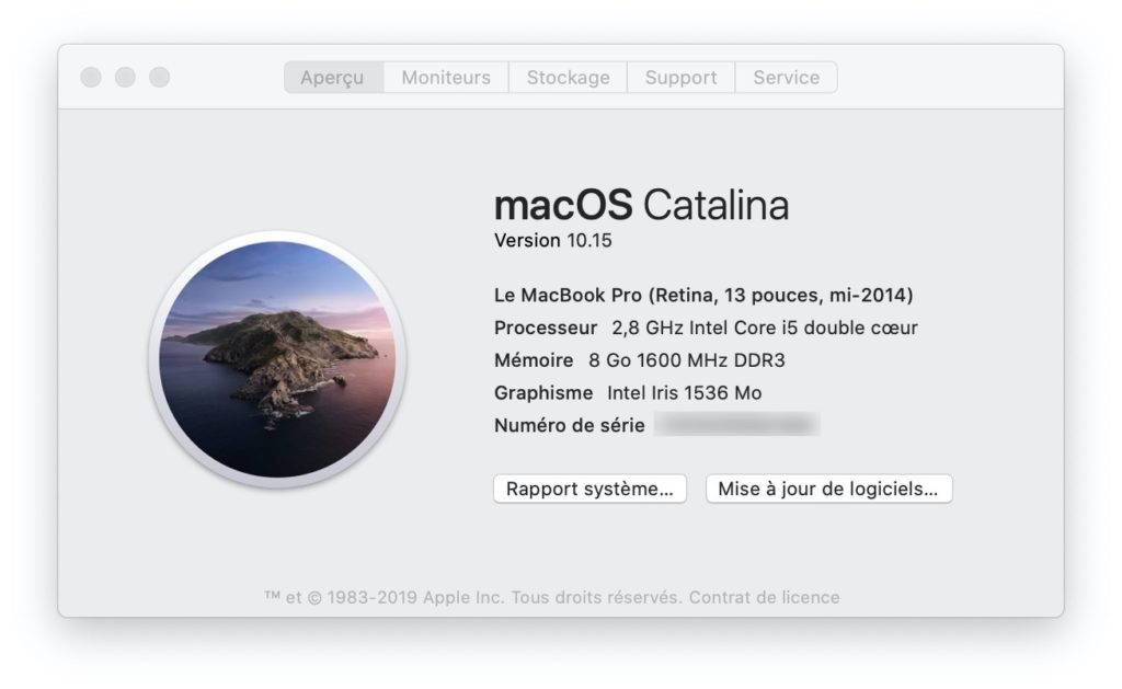 telecharger et installer macos catalina sur mac en version finale