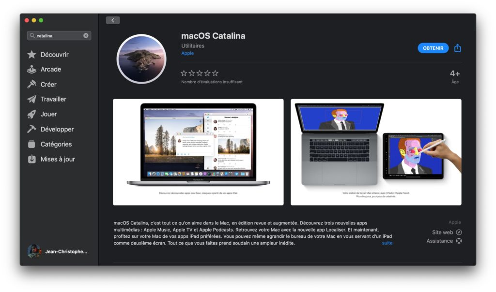 telecharger macos catalina version finale pour Mac