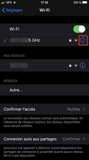 Activer Mode Faibles donnees Wi-Fi
