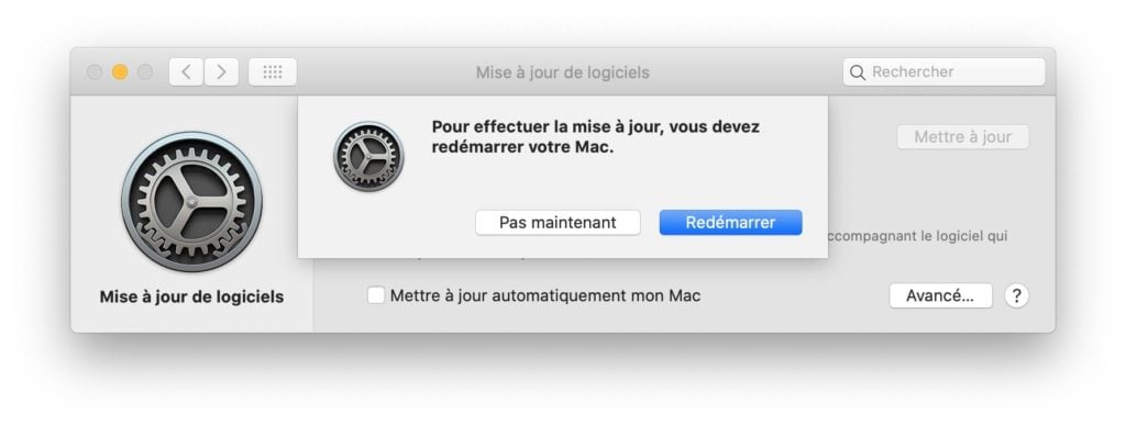 mac os catalina 10.15.4 redemarrer mac