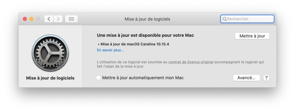 macOS Catalina 10.15.4 disponible au telechargement