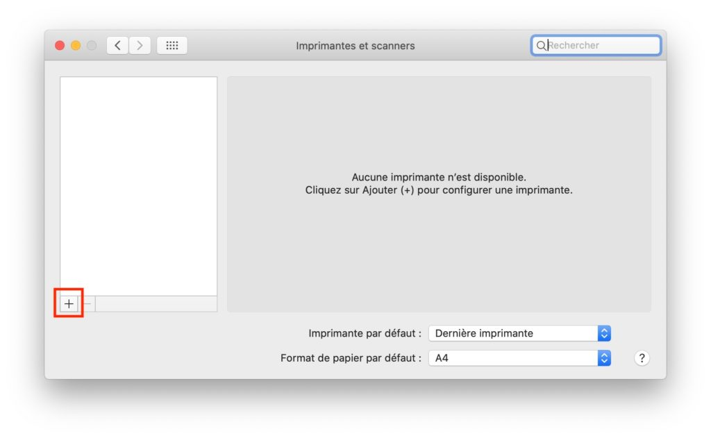 configurer imprimante wifi sur mac