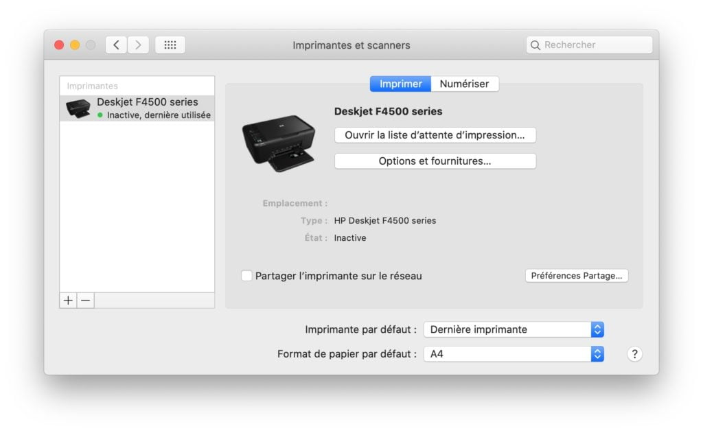 imprimante wifi mac installer