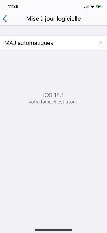 maj ios 14.14 iphone