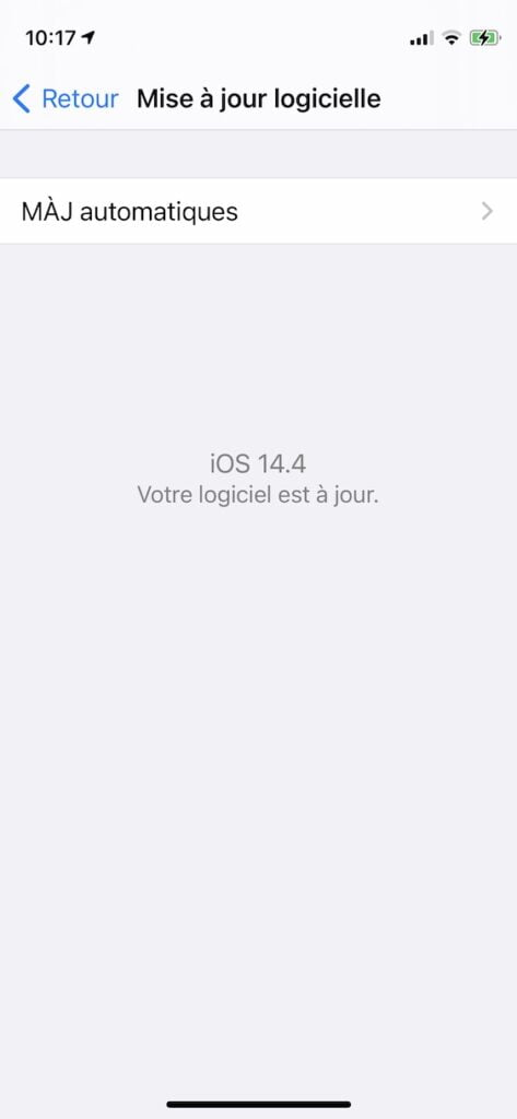 maj ios 14.4 iphone ipad