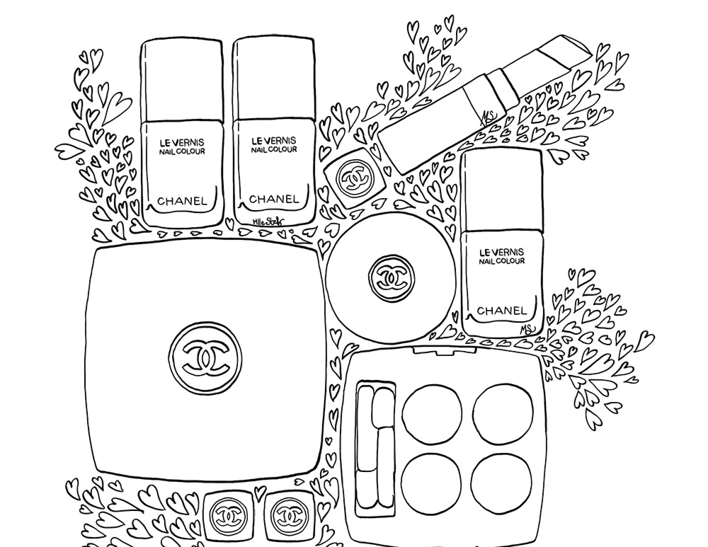 Love Coco Chanel Coloring Pages