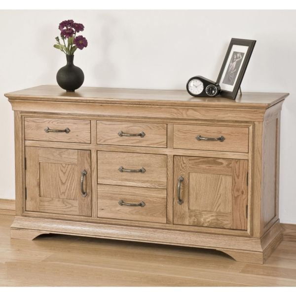 French Solid Oak Furniture Large Sideboard  madewithoak co uk French Solid Oak Furniture Large Sideboard
