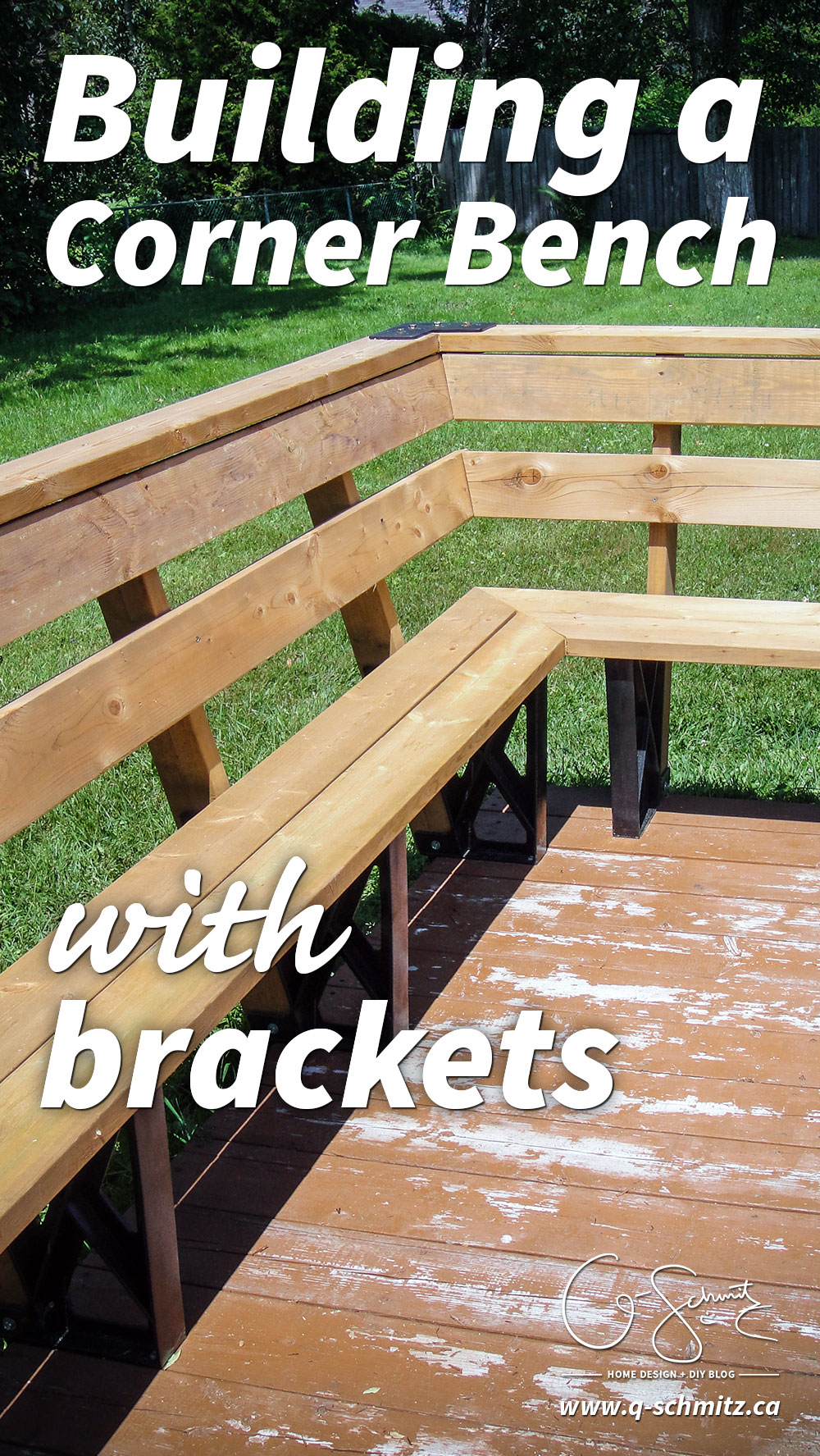 Building A Corner Bench With Brackets Madness Amp Method