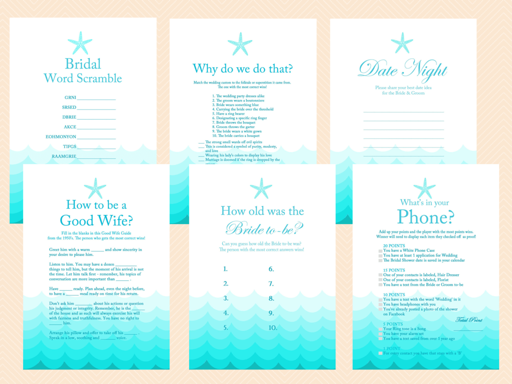 Mad Libs Baby Shower Printable