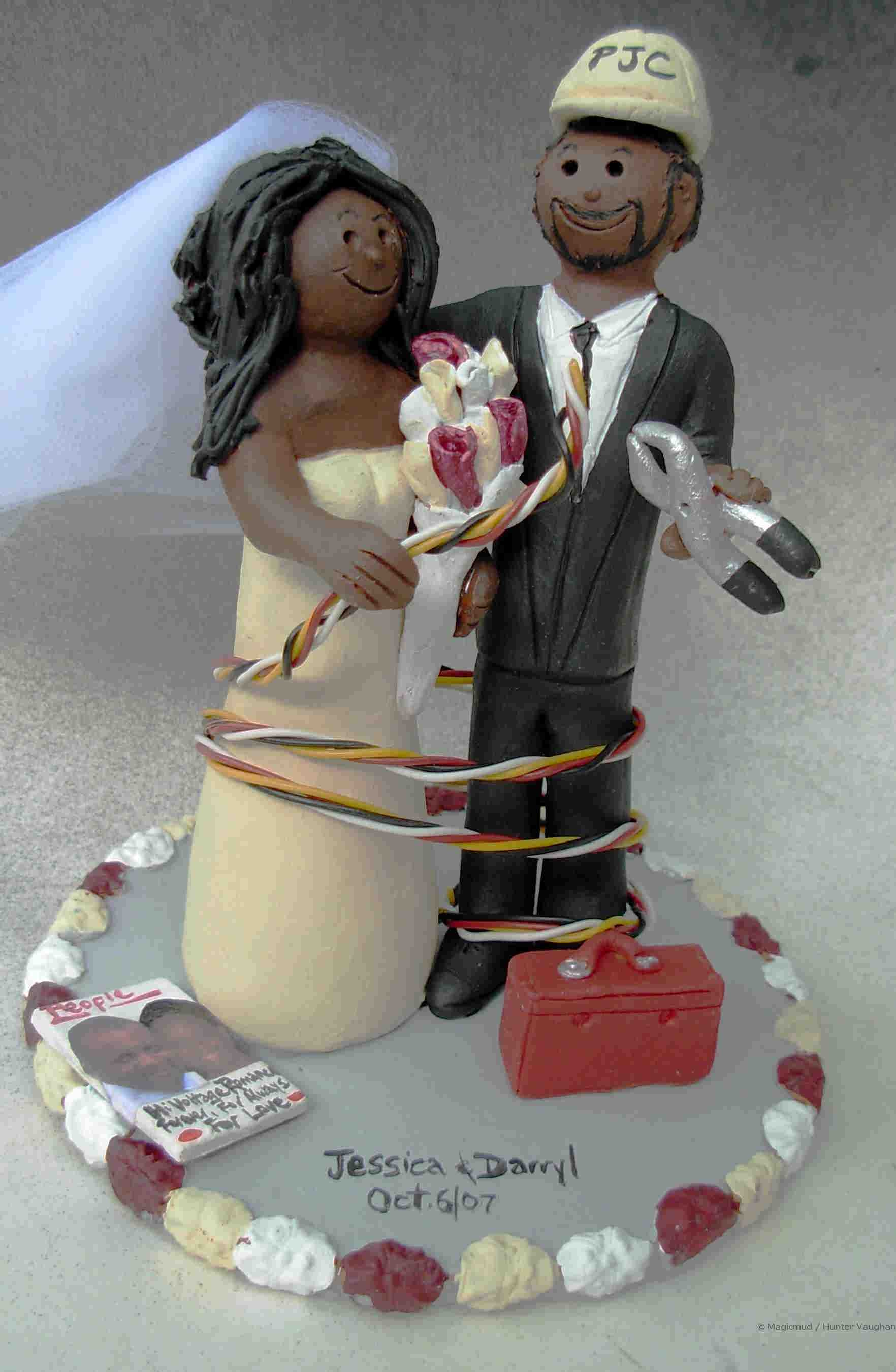 African American Wedding Cake Topper