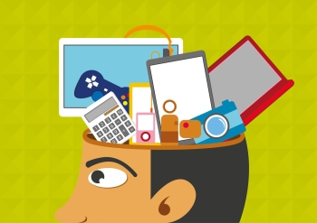 Brain Games  The Truth You Need To Know For Memory Improvement Image expressing a person s head loaded with brain games that are flooding  his ability to focus