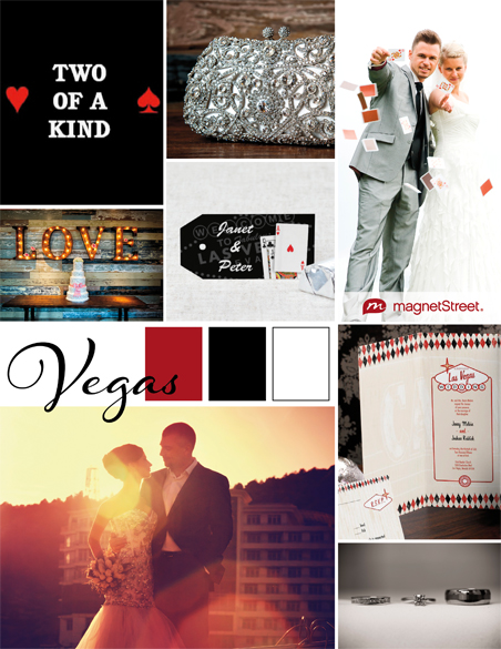 Save Date Cards Vegas Theme