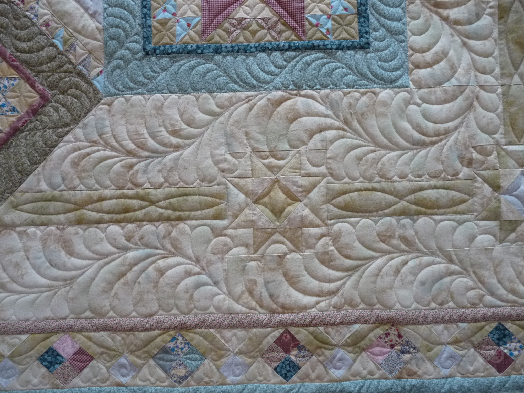 Machine Quilting Sashing Designs