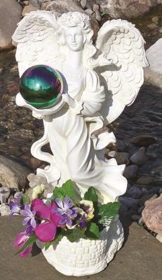 Gazing Globe Angel Garden Statue Planter Amp Decorative