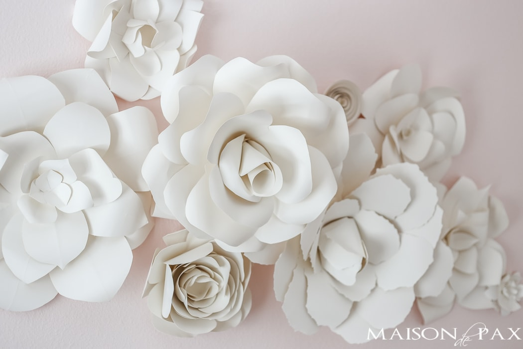 DIY Giant Paper Flowers Tutorial   Maison de Pax DIY Paper Flowers  Incredible  Learn how to make these gorgeous  elegant   giant