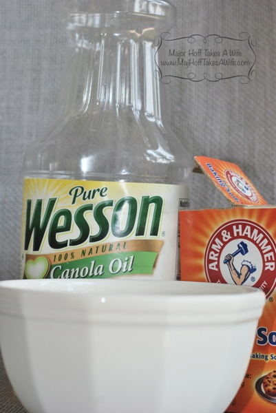 sales tag removal baking soda vegetable oil