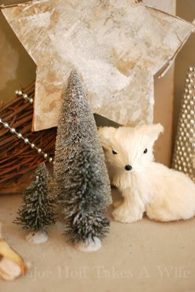 Fox Birch Star Dollar Store Christmas Trees Flocked