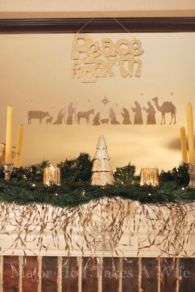 Mercury Glass Christmas Tree Nativity