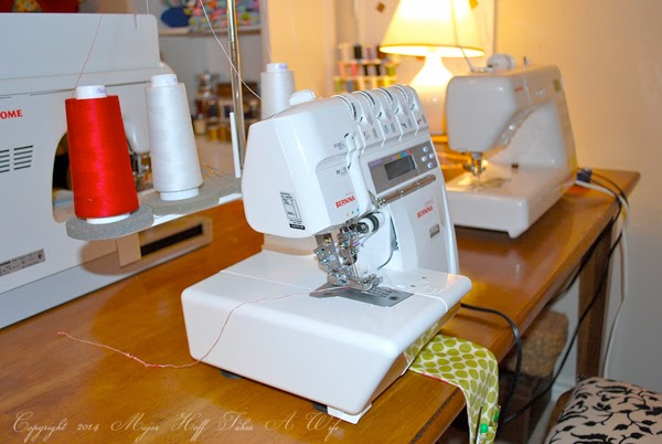 Bernina Serger in Sewing studio