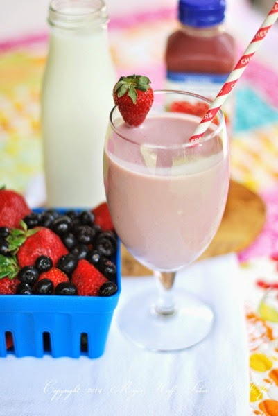 Fast Strawberry Blueberry smoothie