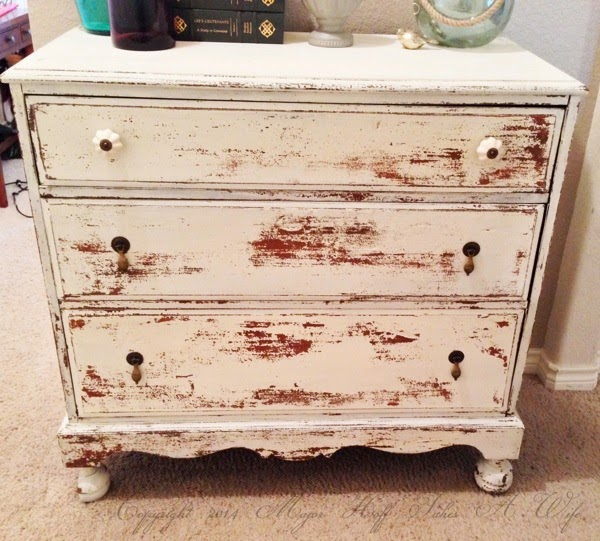 Rescued dresser used for organizing