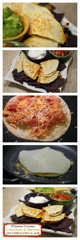 Easiest Week Night meal Fiesta Lime Chicken  Bacon quesadillas