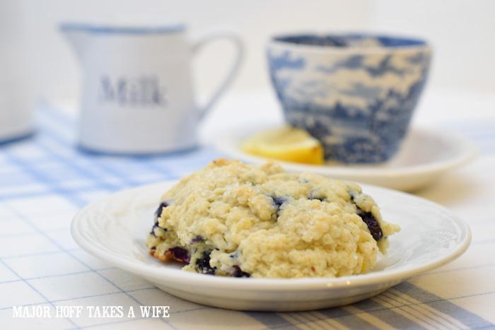 Blueberry scones with buttermilk