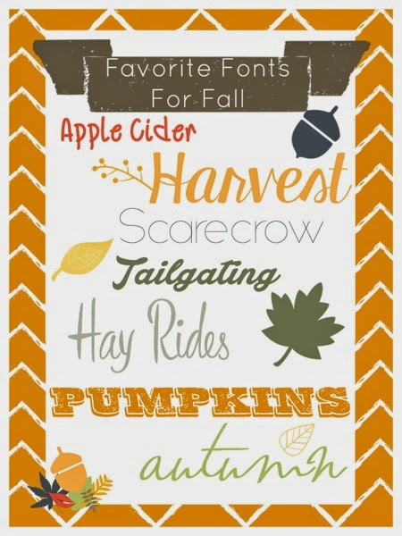 Favorite Fonts for Fall