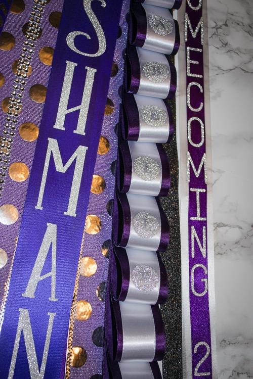 cricut vinyl sticker letters for DIY ribbon