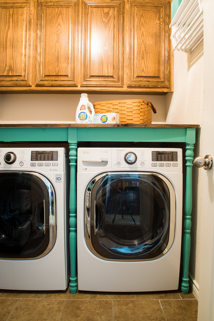 Laundry room after table
