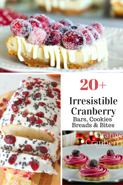 20 cranberry cookie bars bread and bites recipes