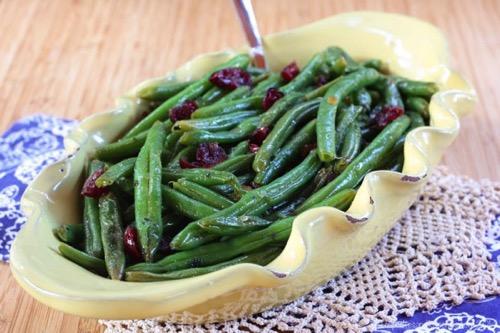 Cranberry Orange Glazed Green Beans Recipe